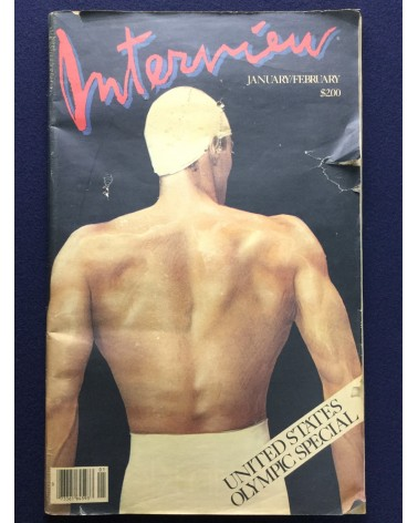Interview Magazine - January, February, United States Olympic Special - 1984