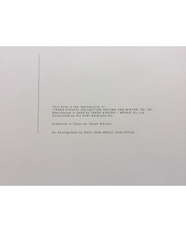 Shoji Ueda - Takeo Kikuchi Collection Autumn and Winter '83-'84 - 2003